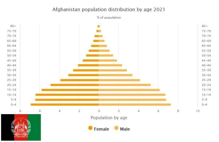 Afghanistan Population Distribution by Age