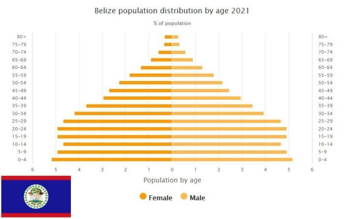 Belize Population Distribution by Age