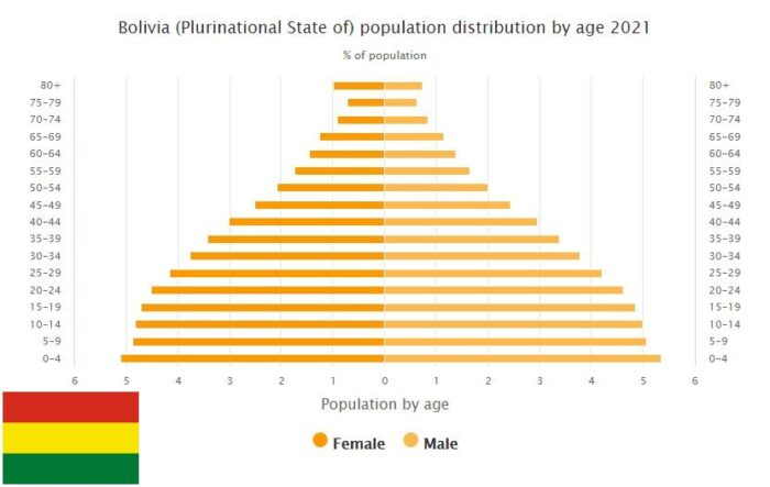 Bolivia Population Distribution by Age