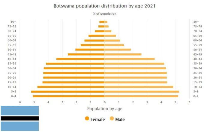 Botswana Population Distribution by Age