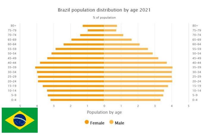 Brazil Population Distribution by Age
