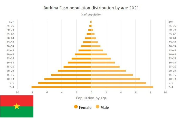 Burkina Faso Population Distribution by Age