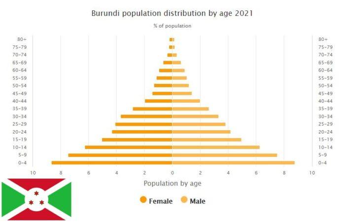 Burundi Population Distribution by Age