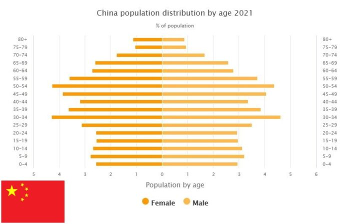 China Population Distribution by Age