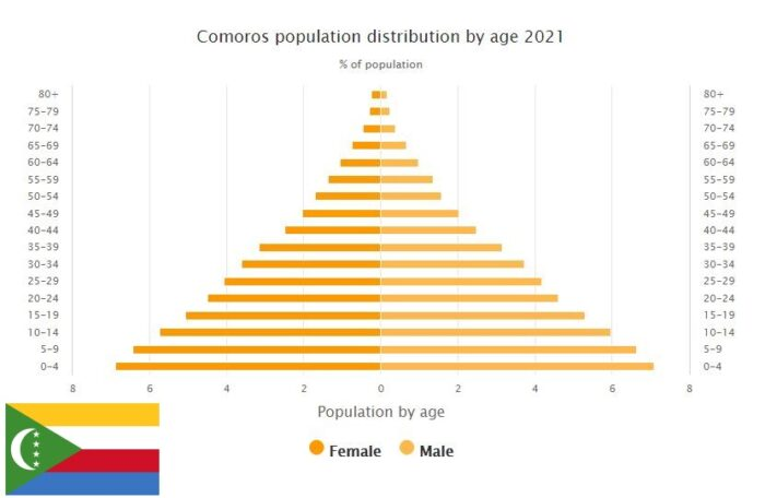 Comoros Population Distribution by Age