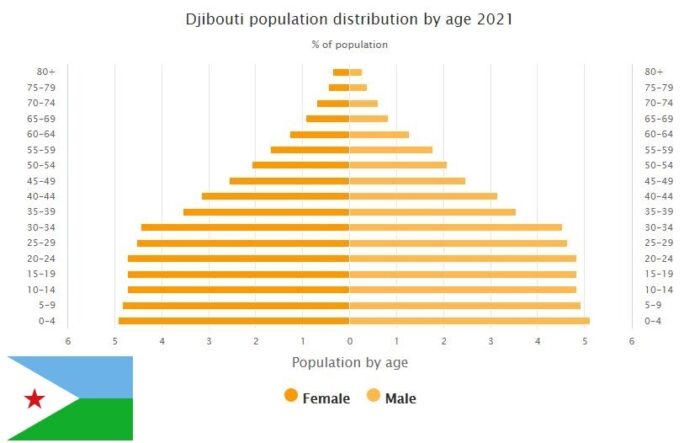 Djibouti Population Distribution by Age