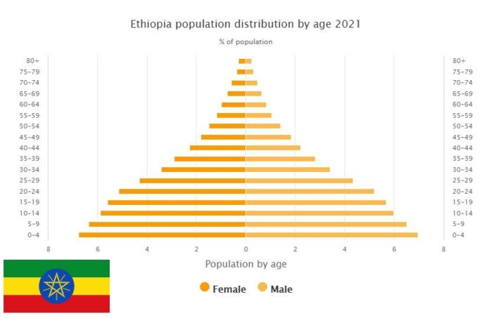Ethiopia Population Distribution by Age