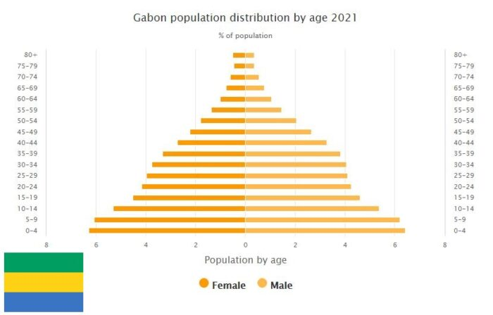 Gabon Population Distribution by Age