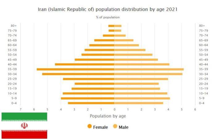 Iran Population Distribution by Age