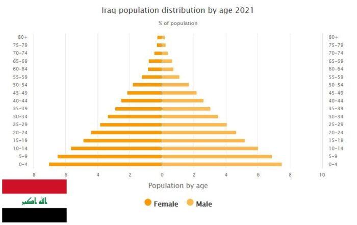 Iraq Population Distribution by Age