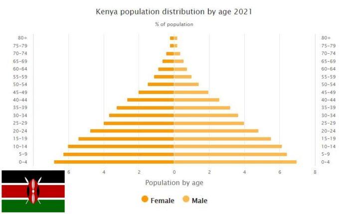 Kenya Population Distribution by Age