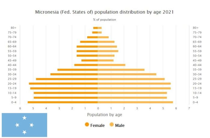 Micronesia Population Distribution by Age