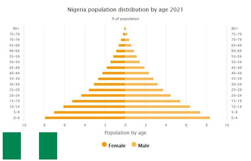 Nigeria Population Distribution by Age