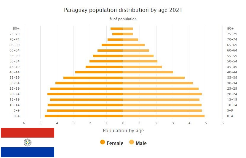 Paraguay Population Distribution by Age
