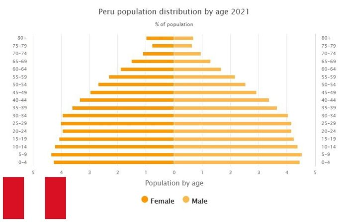 Peru Population Distribution by Age
