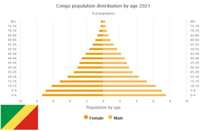 Republic of the Congo Population Distribution by Age