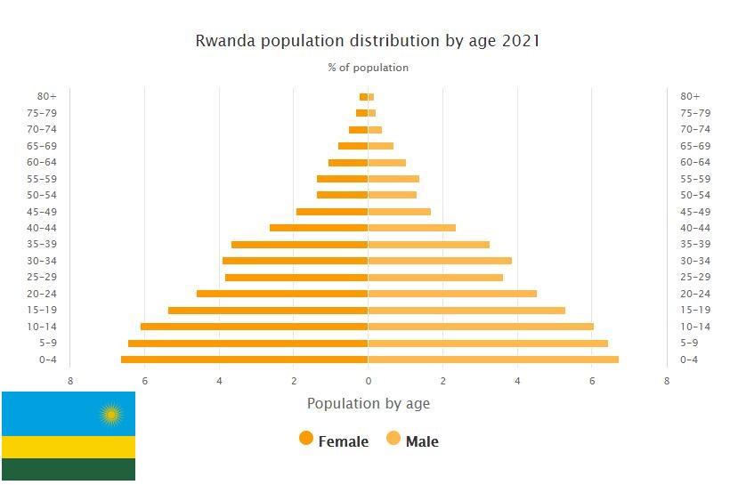 Rwanda Population Distribution by Age