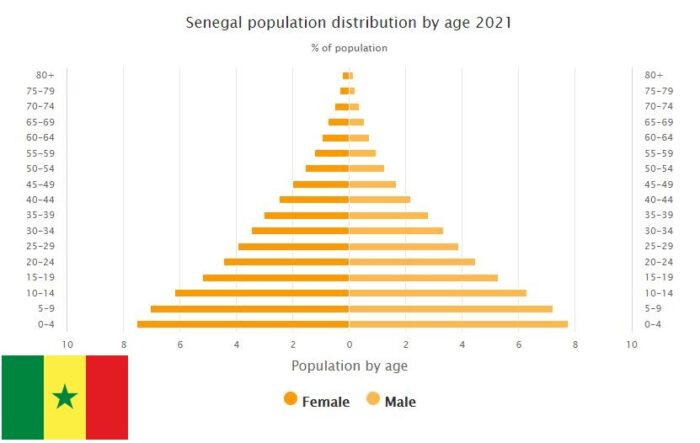 Senegal Population Distribution by Age