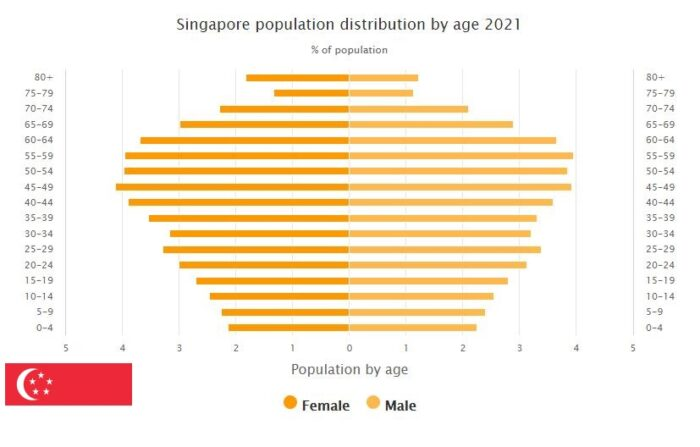 Singapore Population Distribution by Age