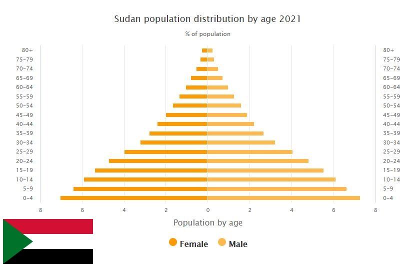 Sudan Population Distribution by Age